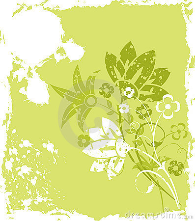 Free Grunge Background Flower, Elements For Design, Vector Royalty Free Stock Image - 1051356