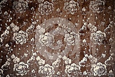 Grunge background - flower pattern
