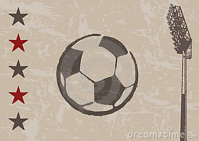 Grunge background - football and floodlight