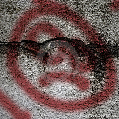Grunge Background with graffiti Painted Sad Face