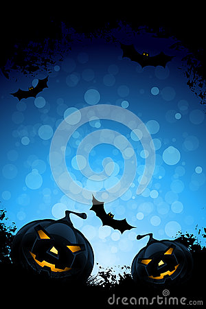 Grunge Background for Halloween Party