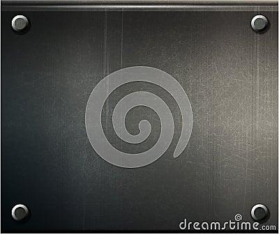 Grunge background  metal plate