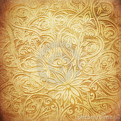 Grunge background with oriental ornaments