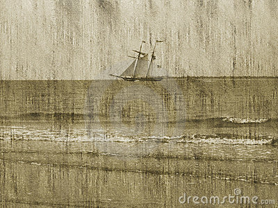 Grunge Background/Ship/Ocean