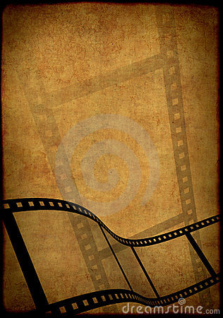 Grunge background - symbolical image of a film