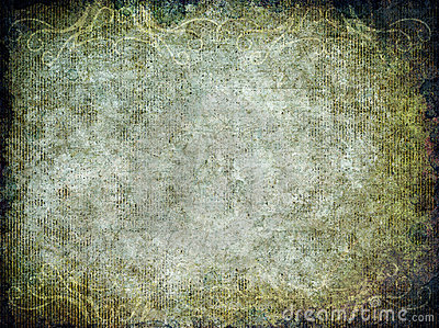 Grunge Background Texture with Flourishes