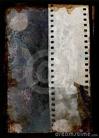 Free Grunge Background With Film Strip Stock Image - 1560291