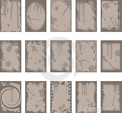 Grunge backgrounds and borders