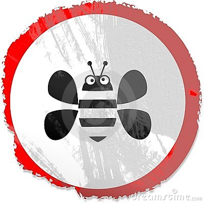 Grunge bee sign