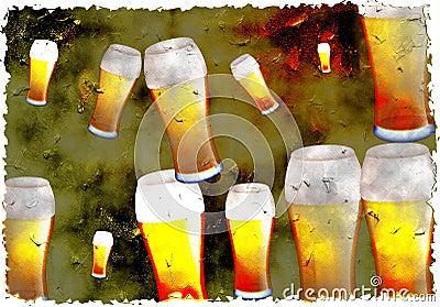 Grunge beer