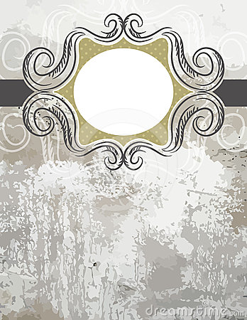 Grunge black background with decorative  labels