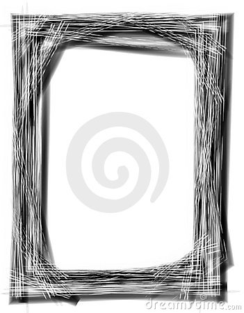 Free Grunge Black Picture Frame Royalty Free Stock Photography - 2184247
