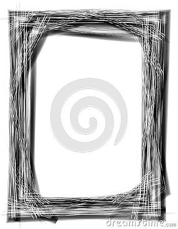 Grunge Black Picture Frame