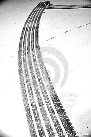 Grunge black tire track