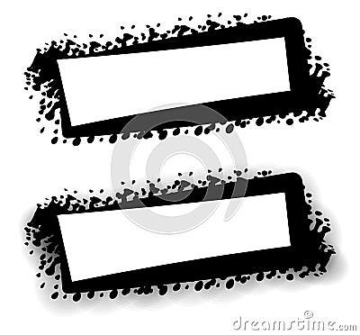 Grunge Black Web Page Logo