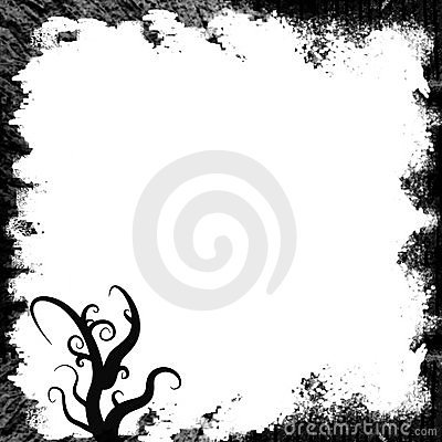 Grunge black whirls frame