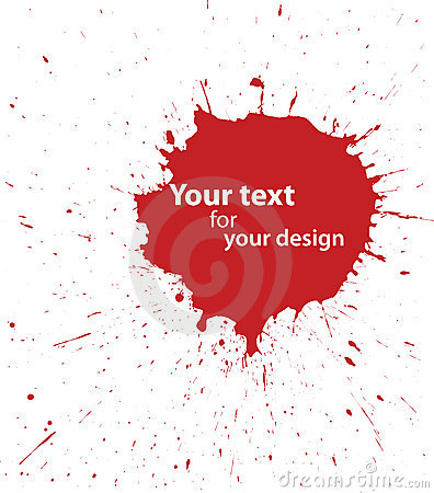 Grunge blood spot for your design