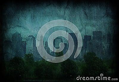 Grunge Blue City