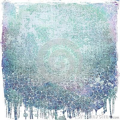 Grunge blue dripping background