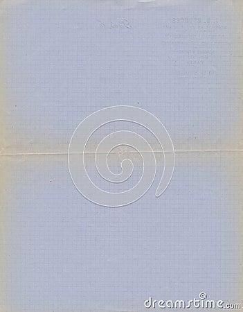 Grunge blue graph paper