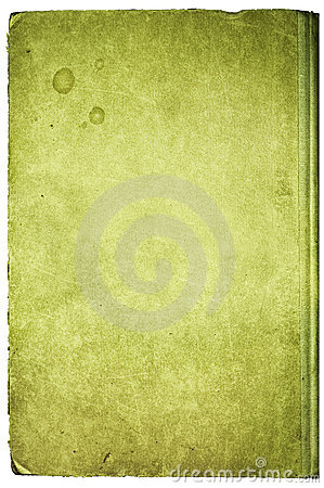 Grunge book cover, isolated