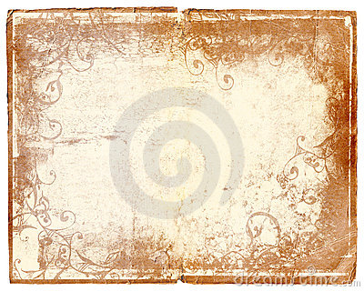 Grunge book page with swirl designs