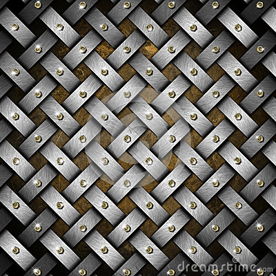 Grunge Braided Metal Background