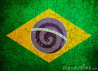 Grunge Brasilien flagga
