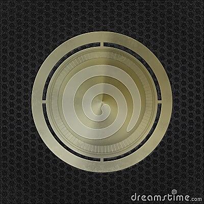 Grunge brass metal medal