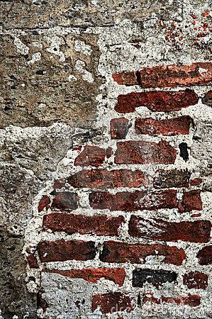 Grunge brick background wall