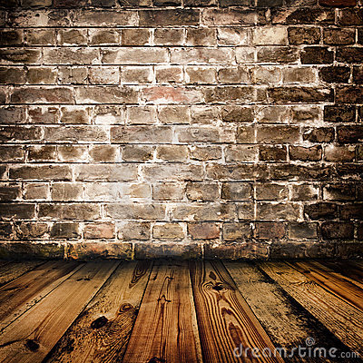 Free Grunge Brick Wall And Wooden Floor Stock Photos - 15410893