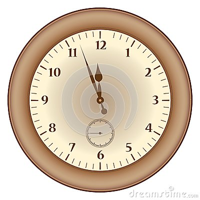Grunge brown  clock