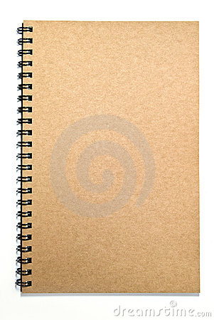 Grunge brown cover notebook isolated