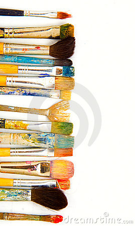 Free Grunge Brushes. Isolated Royalty Free Stock Photos - 2822678