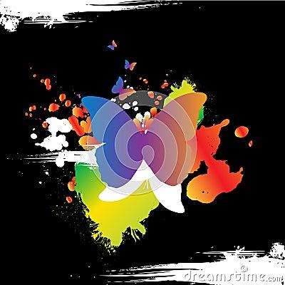 Grunge butterly design