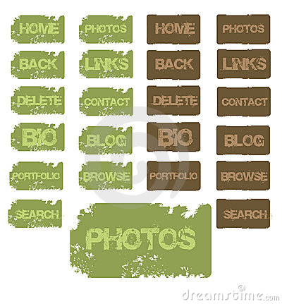Free Grunge Buttons Stock Photo - 914770