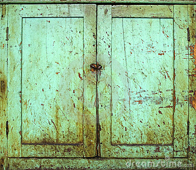 Grunge cabinet doors
