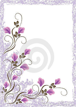 Grunge card with meadow flowers