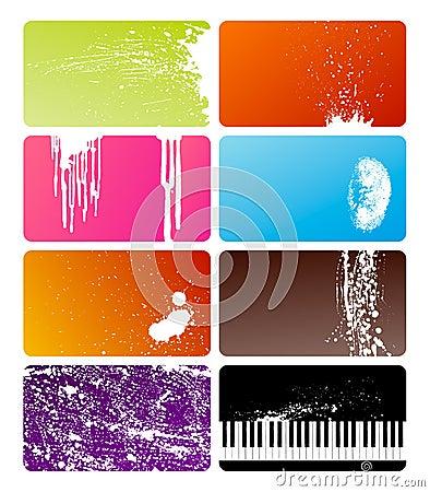 Grunge cards