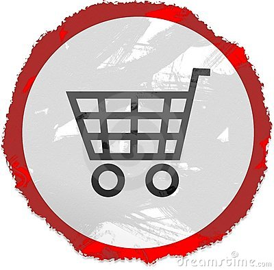 Grunge cart sign
