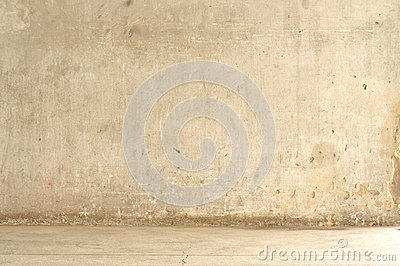 Grunge cement wall with street Stock Photo