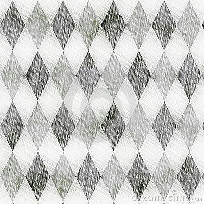 Grunge check drawing pattern
