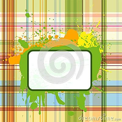 Grunge checked background 3