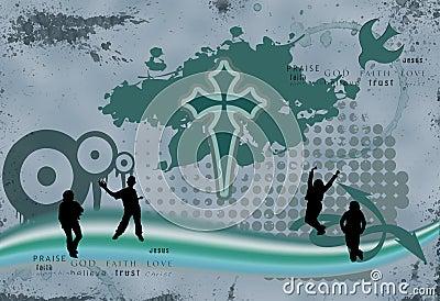 Grunge Christian Illustration