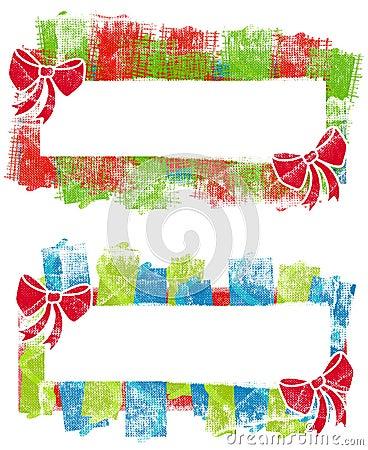 Grunge Christmas Logos Labels