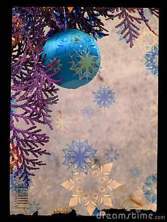 Free Grunge Christmas Postcard Royalty Free Stock Photos - 1649498