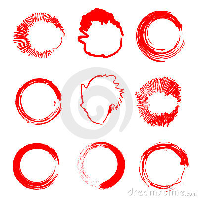 Free Grunge Circle Stains (Vector) Royalty Free Stock Photography - 17180677
