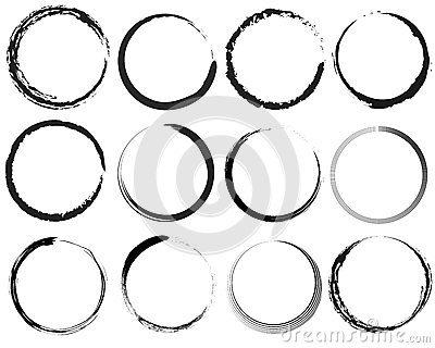 Grunge circles