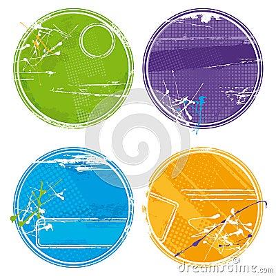 Grunge circles - vector