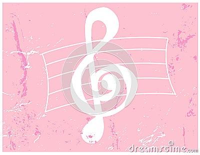 Grunge clef sopranów wektora